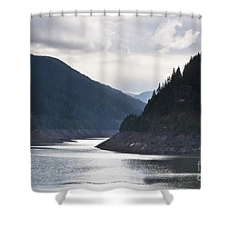 Shower Curtain featuring the photograph Cougar Reservoir by Belinda Greb