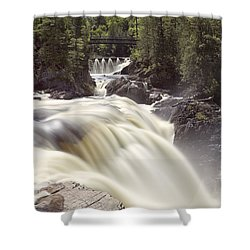 Coulonge Falls Shower Curtain by Eunice Gibb