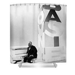 Count Basie (1904-1984) Shower Curtain by Granger