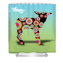 Count Me In  Shower Curtain by Mark Ashkenazi
