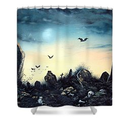 Count The Eyes Shower Curtain by Jean Walker