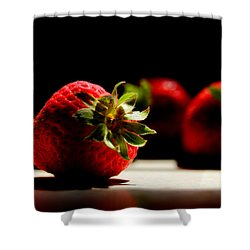 Countertop Strawberries Shower Curtain by Michael Eingle