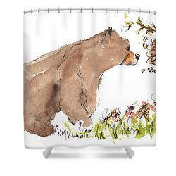 Counting The Bumble Bees Shower Curtain