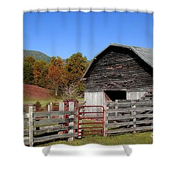 Country Barn Shower Curtain by Jeff McJunkin