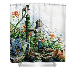 Shower Curtain featuring the painting Country Charm by Hanne Lore Koehler