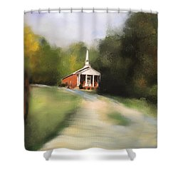 Country Church Shower Curtain by Jai Johnson