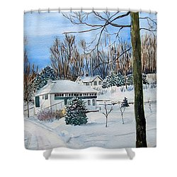 Country Club In Winter Shower Curtain