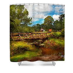 Country - Country Living Shower Curtain by Mike Savad