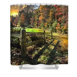 Country Dawn Shower Curtain by Debra and Dave Vanderlaan