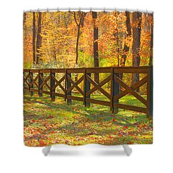 Shower Curtain featuring the photograph Country Fence by Geraldine DeBoer
