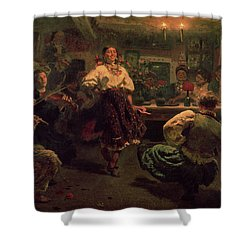 Country Festival Shower Curtain by Ilya Efimovich Repin