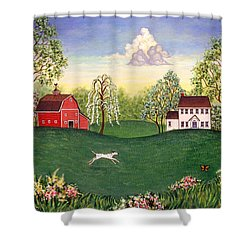 Country Frolic One Shower Curtain by Linda Mears