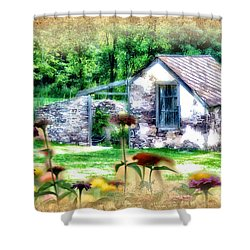Country Garden Shower Curtain by Bill Cannon