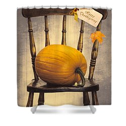 Country House Chair Shower Curtain by Amanda Elwell