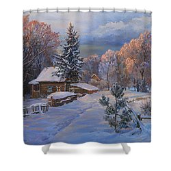 Country House In Winter Shower Curtain