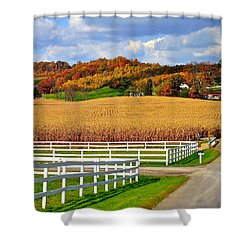 Country Lane Shower Curtain by Frozen in Time Fine Art Photography