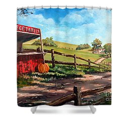 Country Life Shower Curtain by Lee Piper