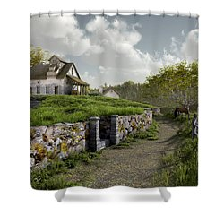 Country Road Shower Curtain by Cynthia Decker
