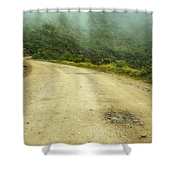 Country Road In Colombia Shower Curtain by Jess Kraft