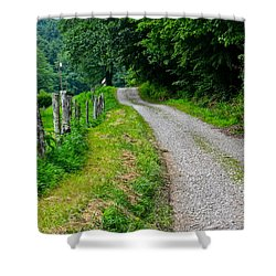 Country Road Shower Curtain by Frozen in Time Fine Art Photography