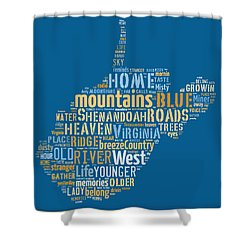 Country Roads 3 Shower Curtain