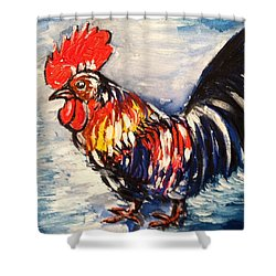 Country Rooster Shower Curtain