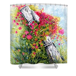 Country Rose Shower Curtain by Janine Riley