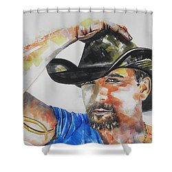 Country Singer Tim Mcgraw 02 Shower Curtain by Chrisann Ellis