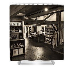 Country Store Shower Curtain by Bill Howard