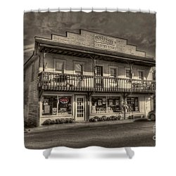 Country Store Open Shower Curtain by Dan Friend