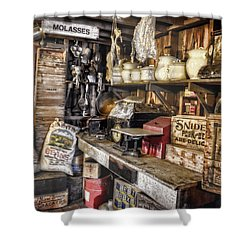 Country Store Supplies Shower Curtain by Ken Smith