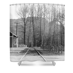 Shower Curtain featuring the photograph Country Train Depot by Tikvah's Hope