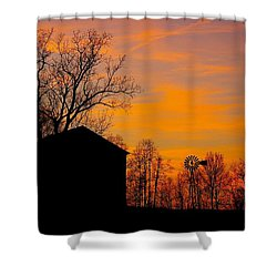 Country View Shower Curtain by Randy Pollard