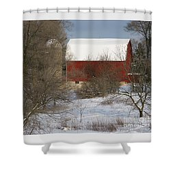 Country Winter Shower Curtain by Ann Horn