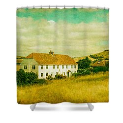 Countryside Homestead Shower Curtain