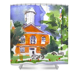 Courthouse Abstractions Shower Curtain by Kip DeVore