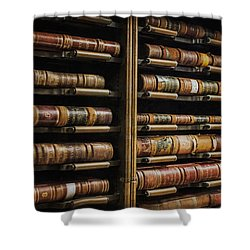 Courthouse Achival Books Shower Curtain
