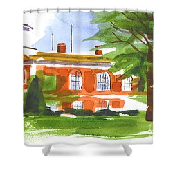 Courthouse On A Summers Evening Shower Curtain by Kip DeVore