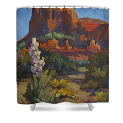 Courthouse Rock Sedona Shower Curtain