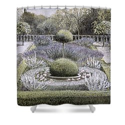 Courtyard Garden Shower Curtain by Ariel Luke