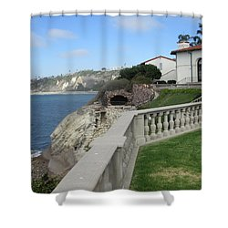 Courtyard On The Cliffs Shower Curtain