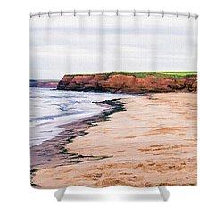 Cousins Shore Prince Edward Island Shower Curtain by Edward Fielding