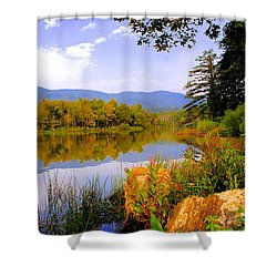 Cove Lake State Park  Shower Curtain by Frozen in Time Fine Art Photography