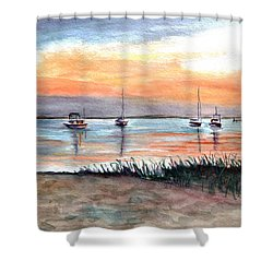 Cove Sunrise Shower Curtain