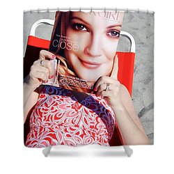 Cover Girl Shower Curtain by Edward Fielding