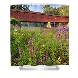 Covered Bridge West Cornwall Shower Curtain