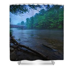 Covered Bridge  Shower Curtain by Everet Regal
