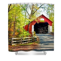 Covered Bridge In Bucks County Shower Curtain