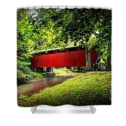 Covered Bridge In Pa Shower Curtain by Dan Friend