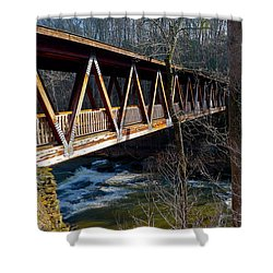 Covered Bridge In Roswell Shower Curtain
